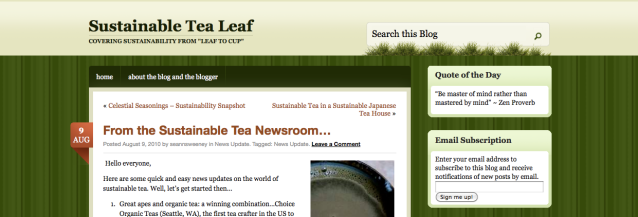 sustainable tea